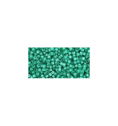 TT-01-954 Inside-Color Aqua/Light Jonquil Lined TOHO Treasures Seed Beads