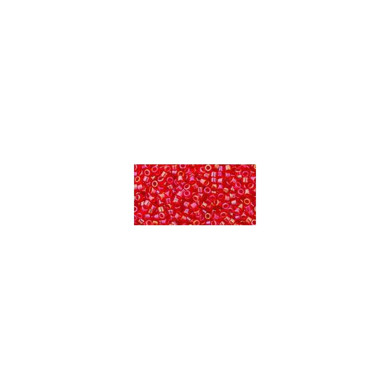 TT-01-798 Inside-Color Siam/Light Topaz Lined TOHO Treasures Seed Beads