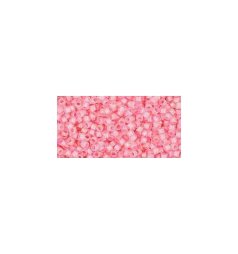 TT-01-191C Inside-Color Crystal/Hot Pink Lined TOHO Treasures Seed Beads