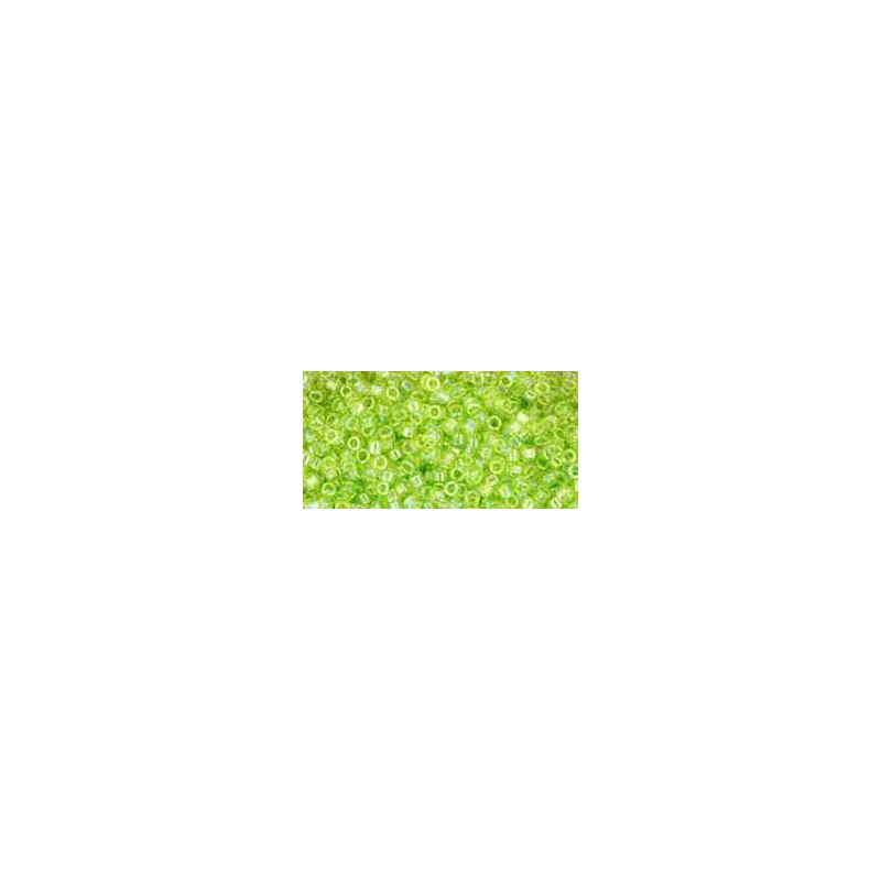 TT-01-164 Transparent-Rainbow Lime Green TOHO Treasures Seemnehelmed