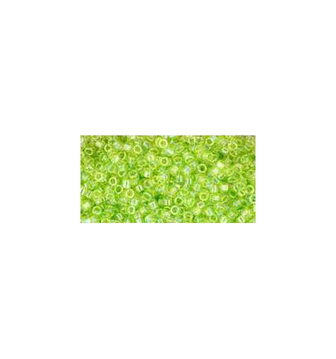 TT-01-164 Transparent-Rainbow Lime Green TOHO Treasures Seed Beads