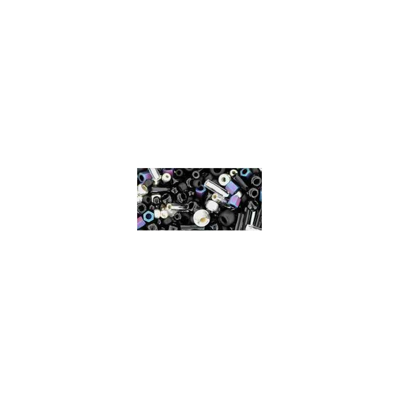 TX-01-3225 Yozora Jet / Silver Miks TOHO Seemnehelmed