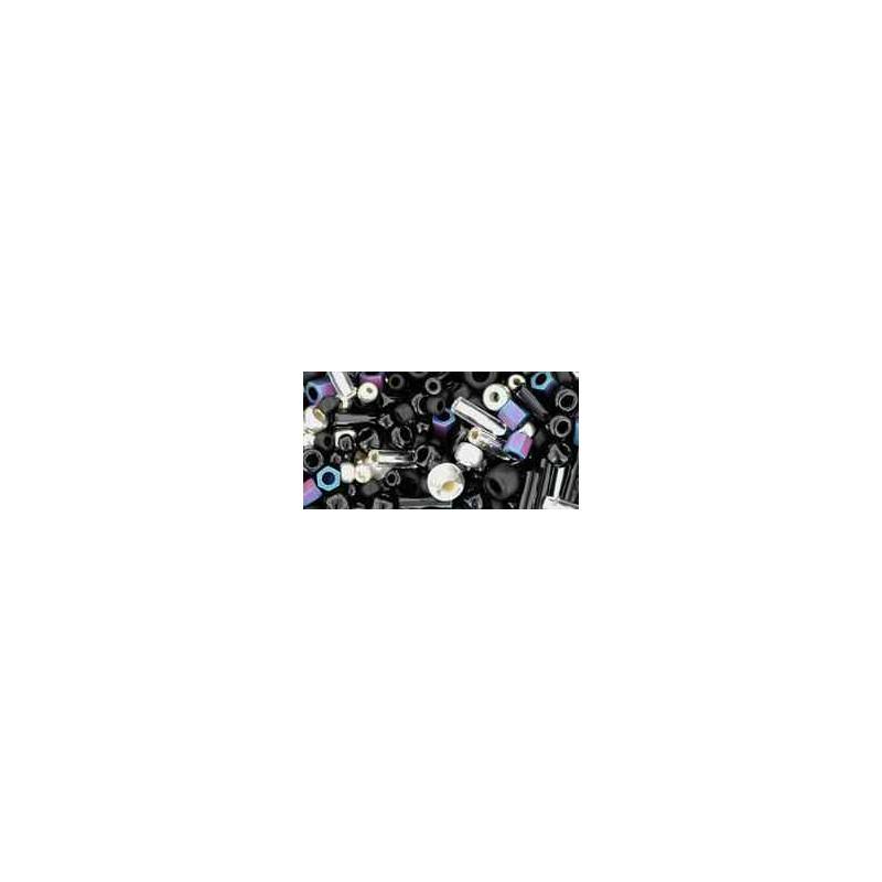 TX-01-3225 Yozora Jet / Silver Mix TOHO Perles de Rocailles
