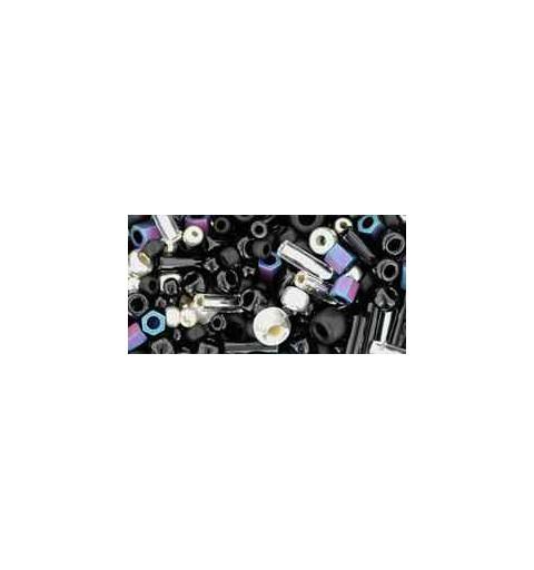 TX-01-3225 Yozora Jet / Silver Mix TOHO Seed Beads