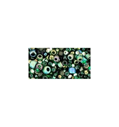 TX-01-3209 Bonsai Green / Black Mix TOHO Siemenhelmet
