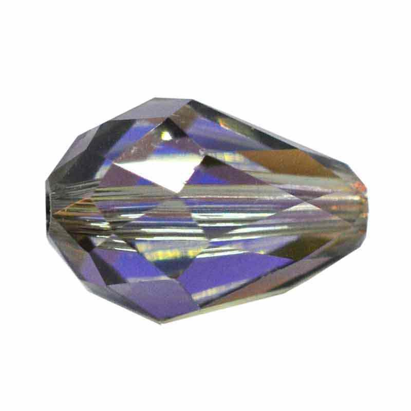 9x6MM Black Diamond AB (215 AB) 5500 Teardrop Bead SWAROVSKI