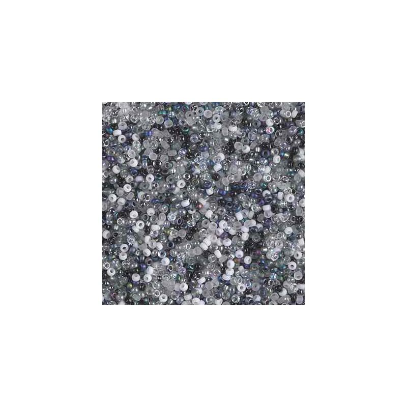 MIX-15-50 Salt and Pepper Miyuki Pyöreä Rocailles 15/0