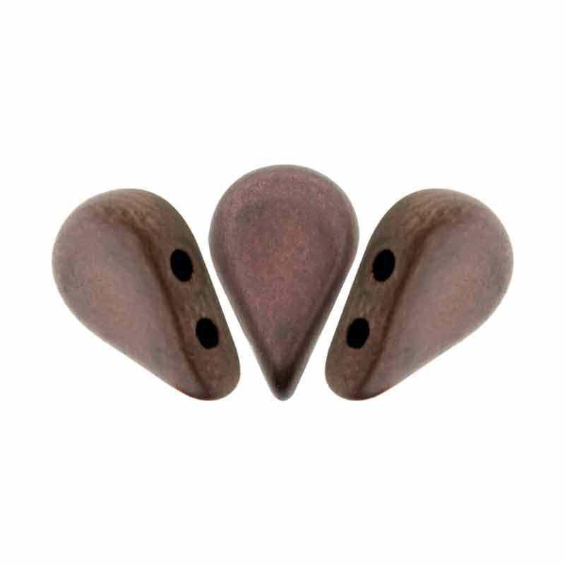 Dark Bronze Mat - Amos® par Puca® pärlor
