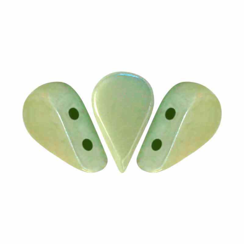Opaque Light Green Ceramic Look - Amos® par Puca® pärlor