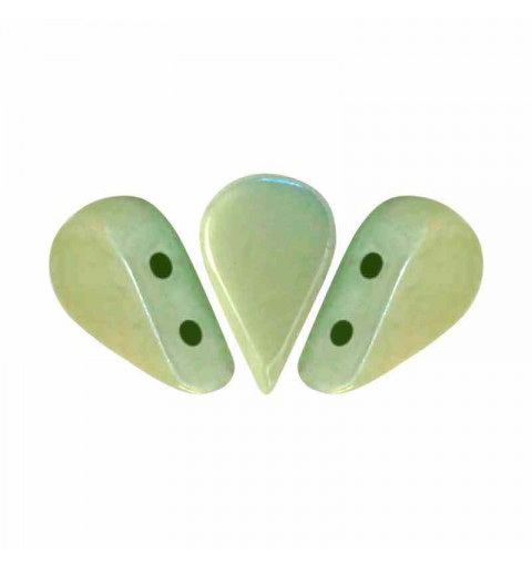 Opaque Light Green Ceramic Look - Amos® par Puca® beads
