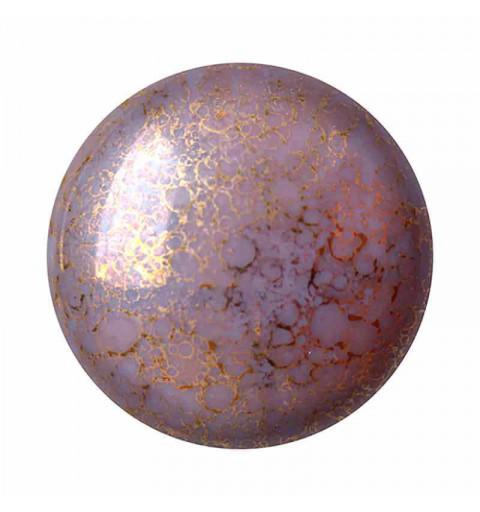 18mm Opaque Amethyst Bronze Cabochons par Puca®