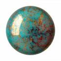 Opaque Blue Turquoise Bronze 18mm Cabochons par Puca®
