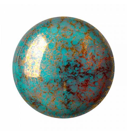 18mm Opaque Blue Turquoise Bronze Cabochonid par Puca®