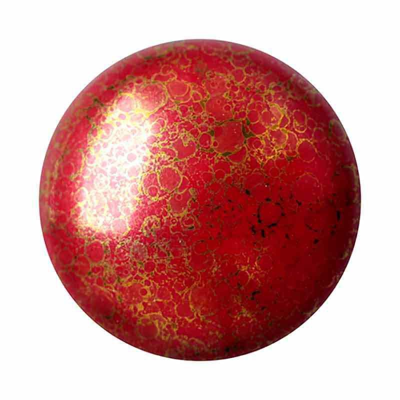 Opaque Coral Red Bronze 18mm Cabochonit par Puca®