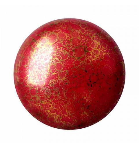 18mm Opaque Coral Red Bronze Cabochonid par Puca®
