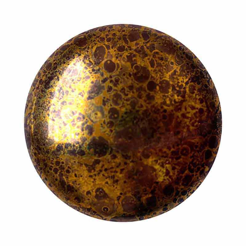 Opaque Dark Choco Bronze 18mm Cabochonit par Puca®