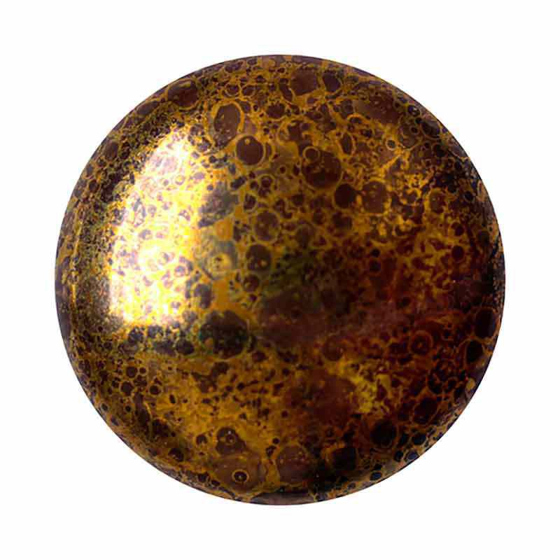 Opaque Dark Choco Bronze 18mm Cabochons par Puca®