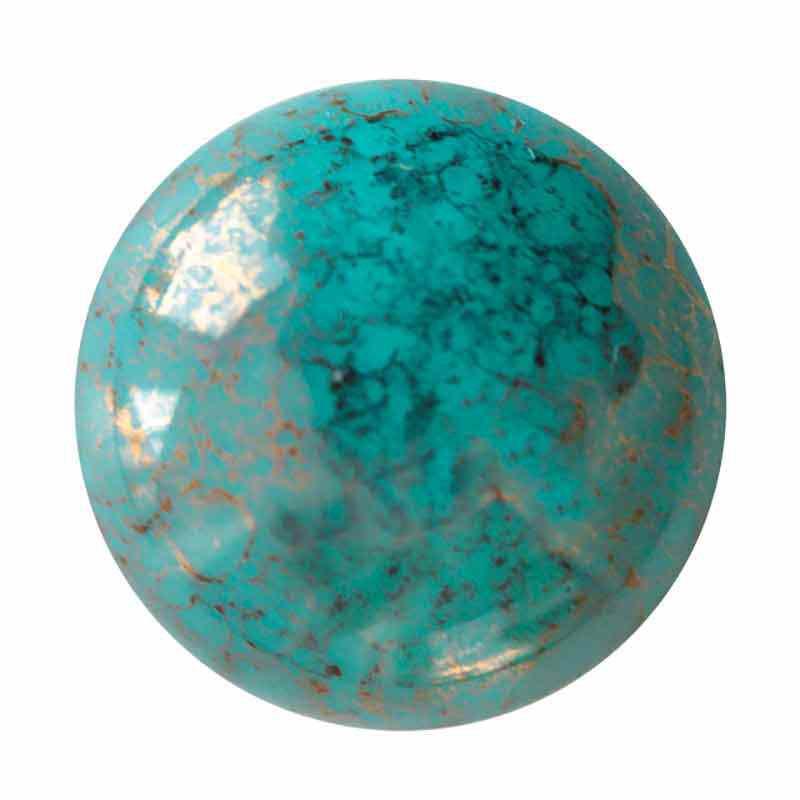 18mm Opaque Green Turquoise Bronze Cabochonit par Puca®