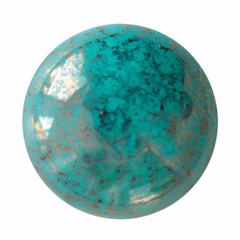 18mm Opaque Green Turquoise Bronze Cabochons par Puca®