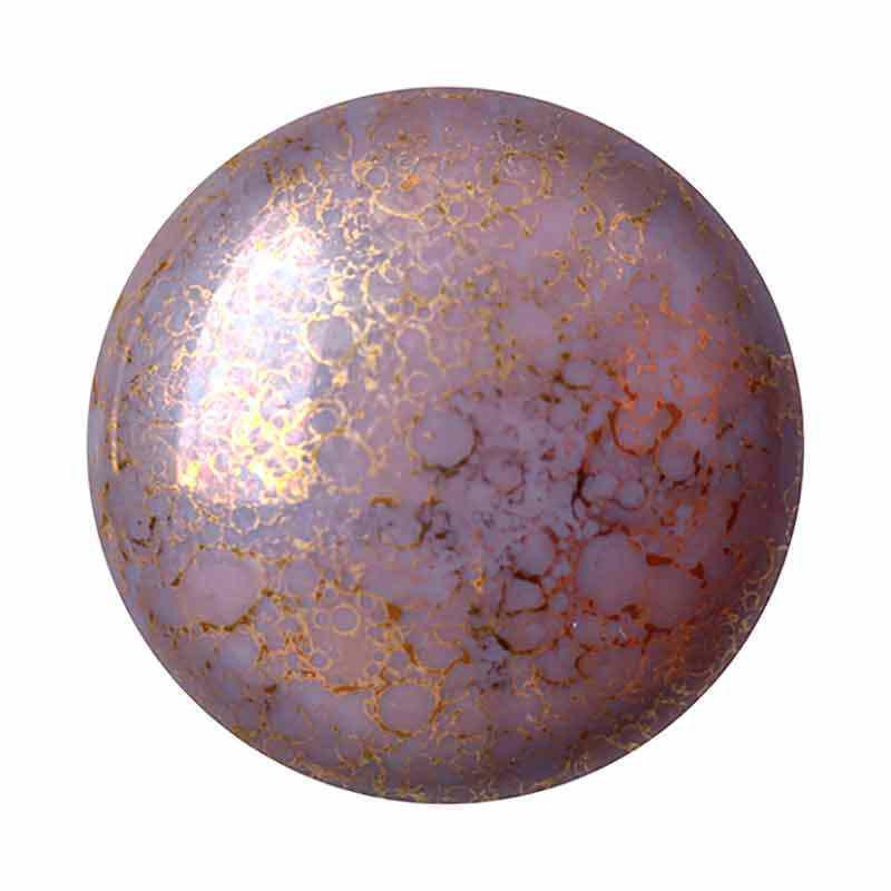 25mm Opaque Amethyst Bronze Cabochonit par Puca®