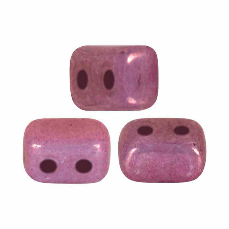 Opaque Mix Amethyst/Gold Ceramic Look - Ios® par Puca® beads