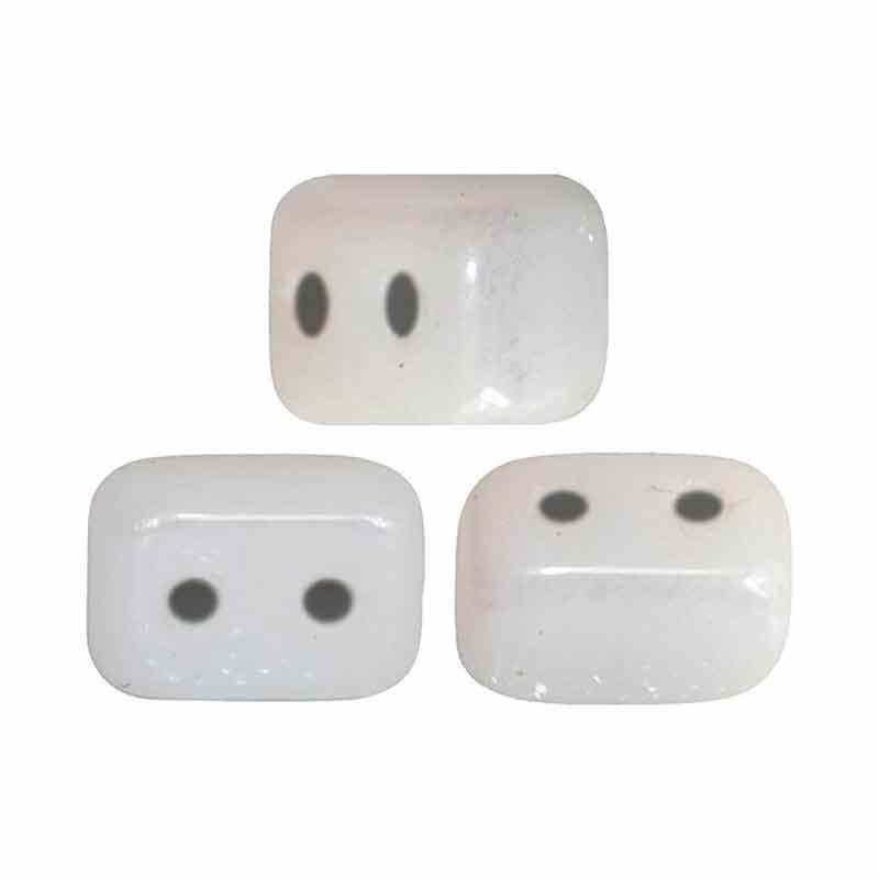 Opaque White Ceramic Look - Ios® par Puca® pärlor