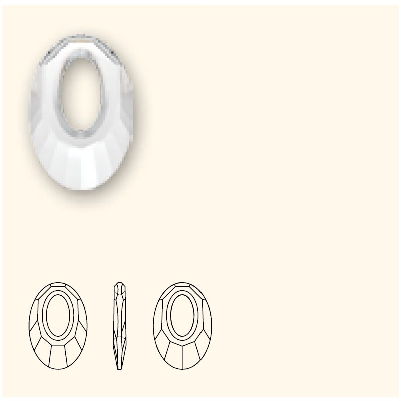 30MM Crystal Copper (001 COP) Helios Pendants 6040 SWAROVSKI ELEMENTS