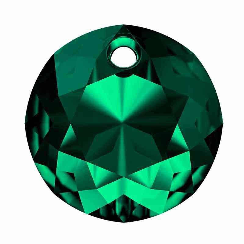 14MM Emerald Classic Cut Pendant 6430 SWAROVSKI