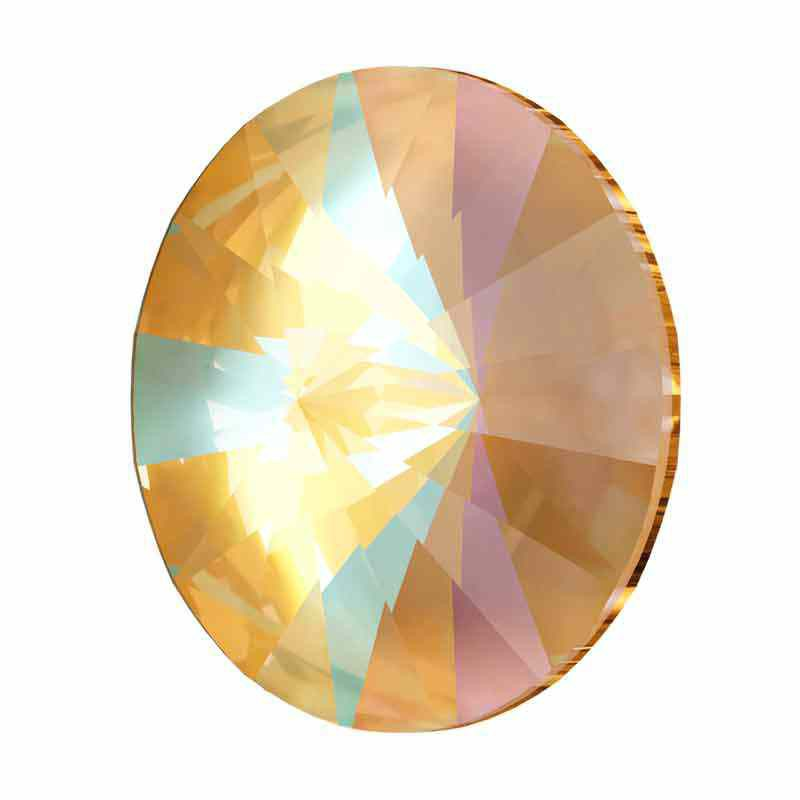 12MM Crystal Ochre DeLite 1122 Rivoli SWAROVSKI