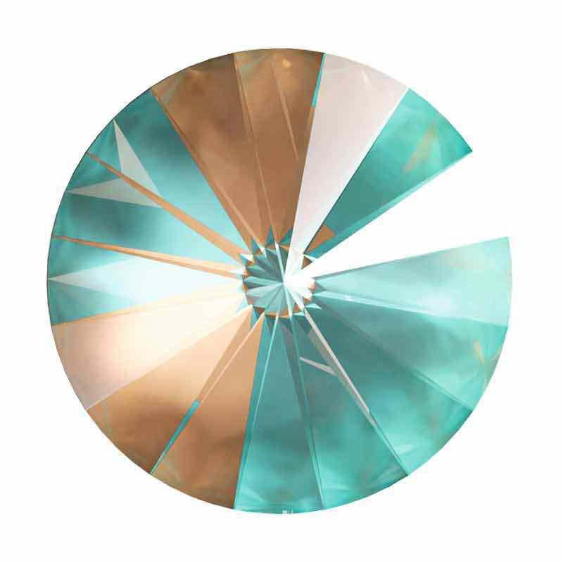 14MM Crystal Cappuccino DeLite 1122 Rivoli SWAROVSKI