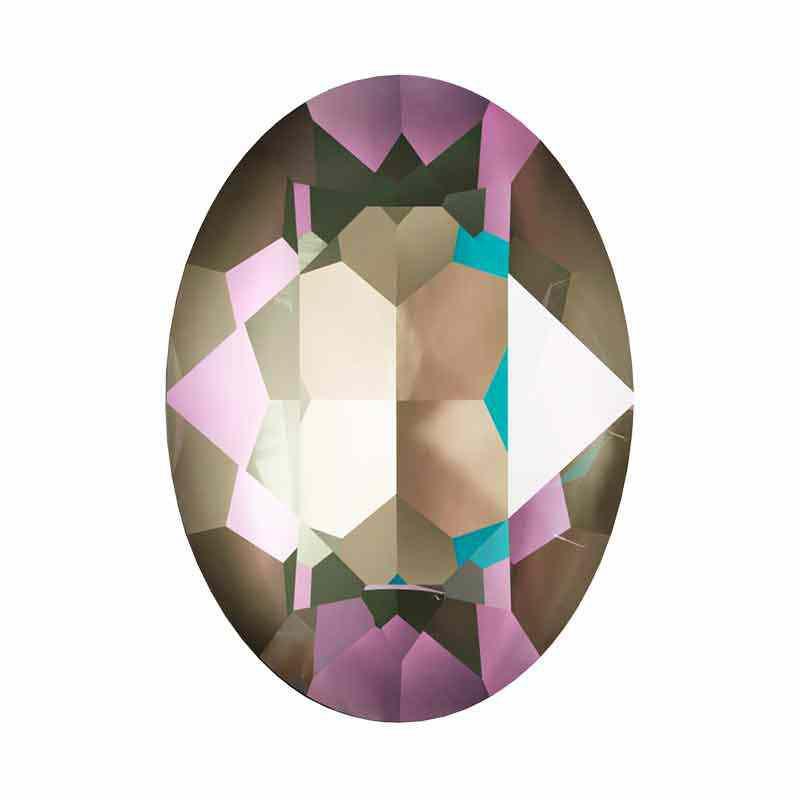 14x10mm Crystal Army Green DeLite Oval Ehete Kristall 4120 Swarovski Elements