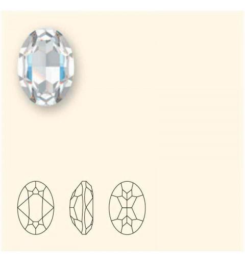 14x10mm Crystal Burgundy DeLite Oval Fancy Stone 4120 Swarovski Elements