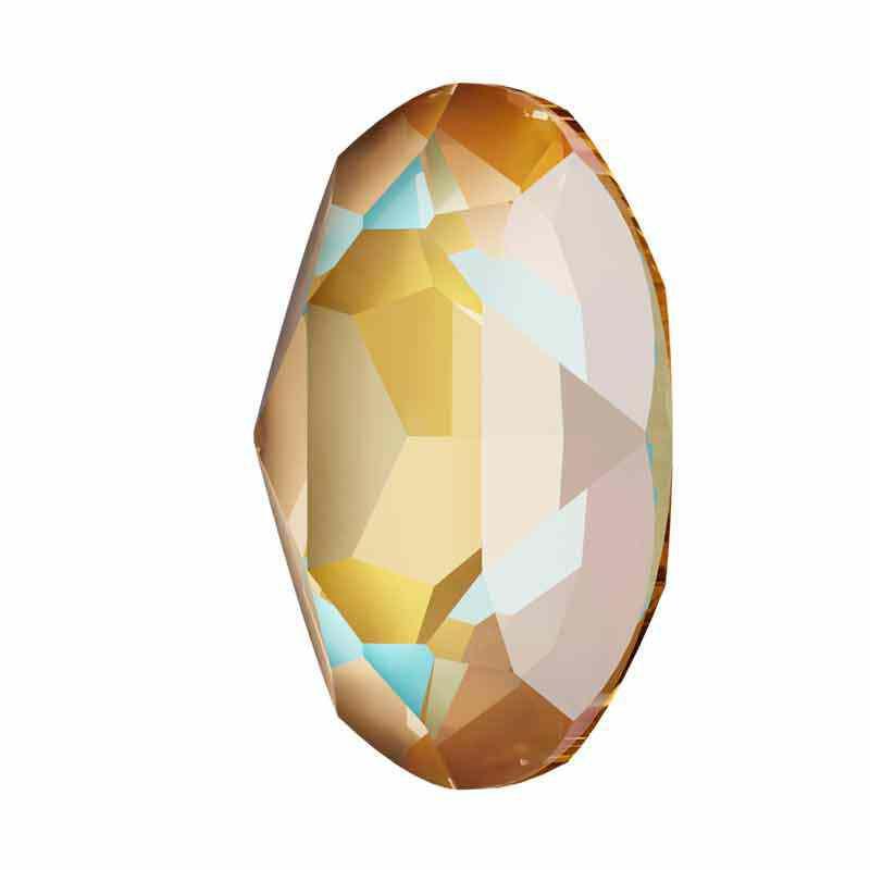 14x10mm Crystal Cappuccino DeLite Oval Fancy Stone 4120 Swarovski