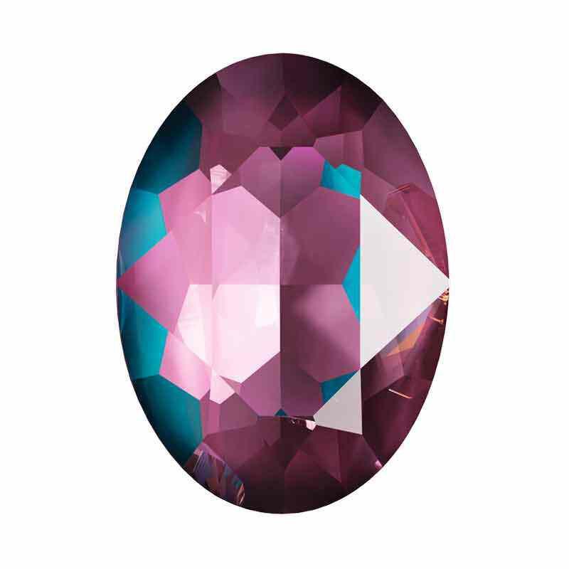 18x13mm Crystal Burgundy DeLite Oval Ehete Kristall 4120 Swarovski