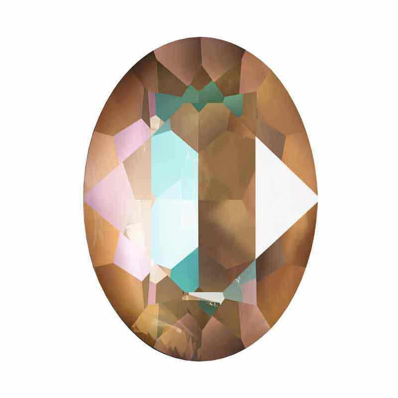 18x13mm Crystal Cappuccino DeLite Oval Ehete Kristall 4120 Swarovski