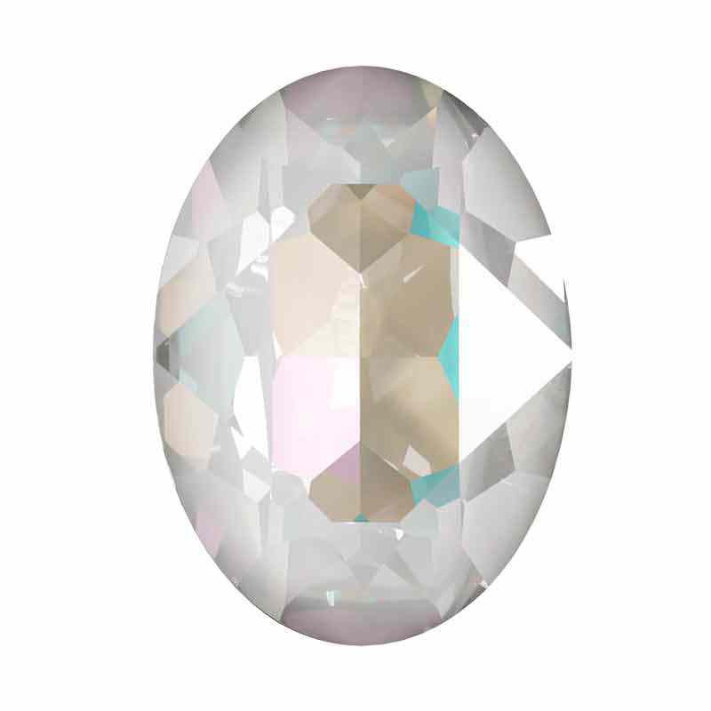 18x13mm Crystal Light Grey DeLite Oval Ehete Kristall 4120 Swarovski
