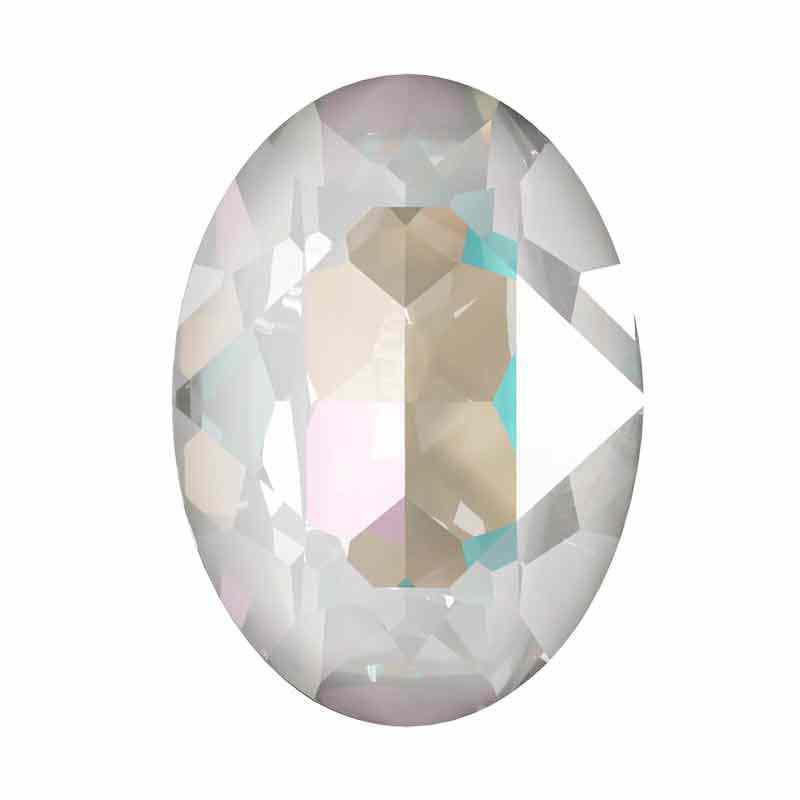 18x13mm Crystal Light Grey DeLite Oval Fancy Stone 4120 Swarovski