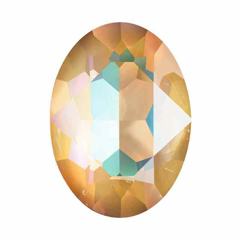 18x13mm Crystal Ochre DeLite Овальный Кристалл для украшений 4120 Swarovski