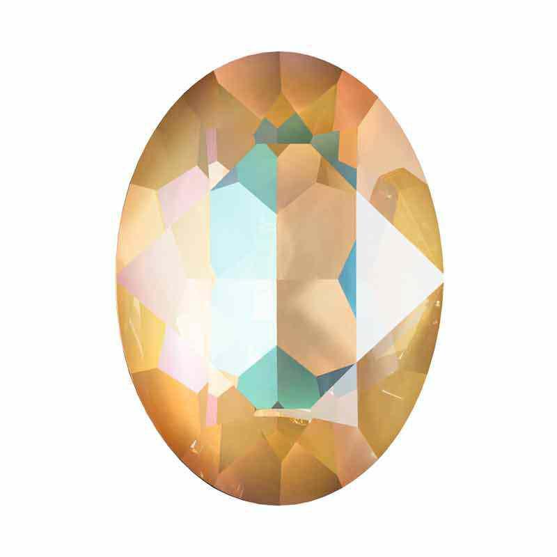 18x13mm Crystal Ochre DeLite Oval Ehete Kristall 4120 Swarovski