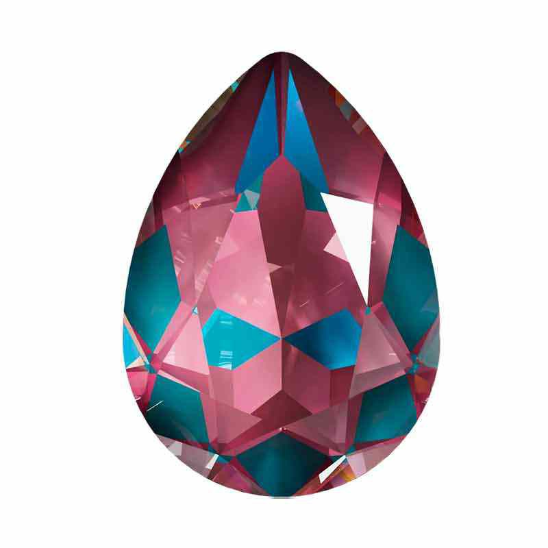 14x10mm Crystal Burgundy DeLite Pear-Shaped Fancy Stone 4320 Swarovski