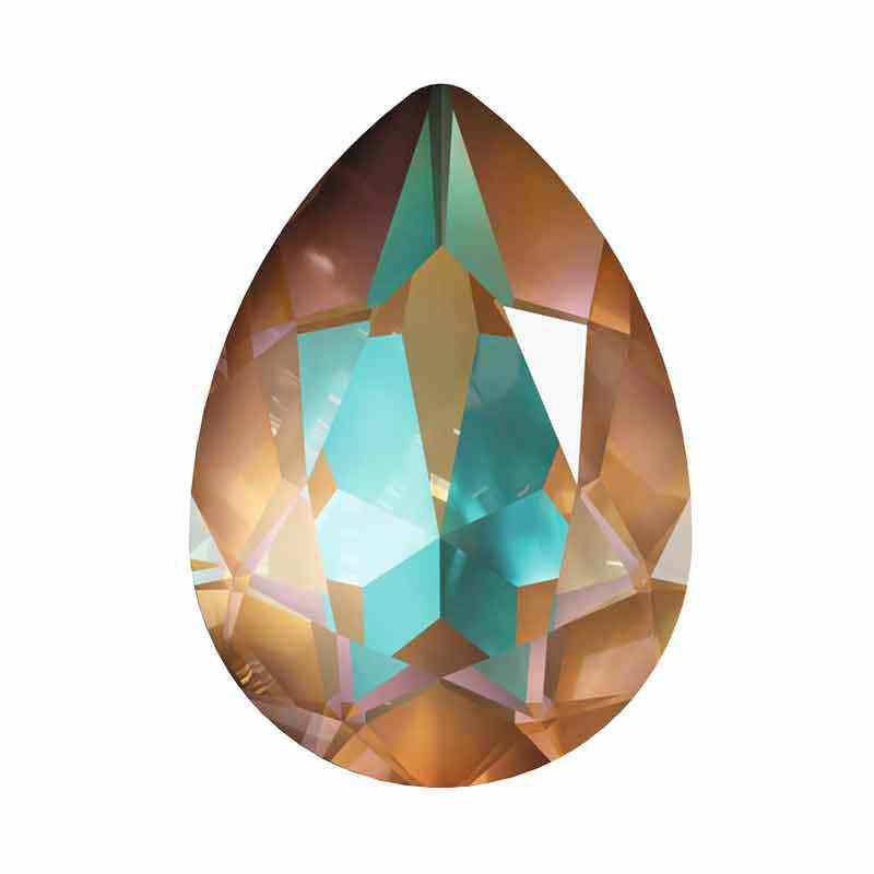14x10mm Crystal Cappuccino DeLite Pirnikujuline Ehete Kristall 4320 Swarovski