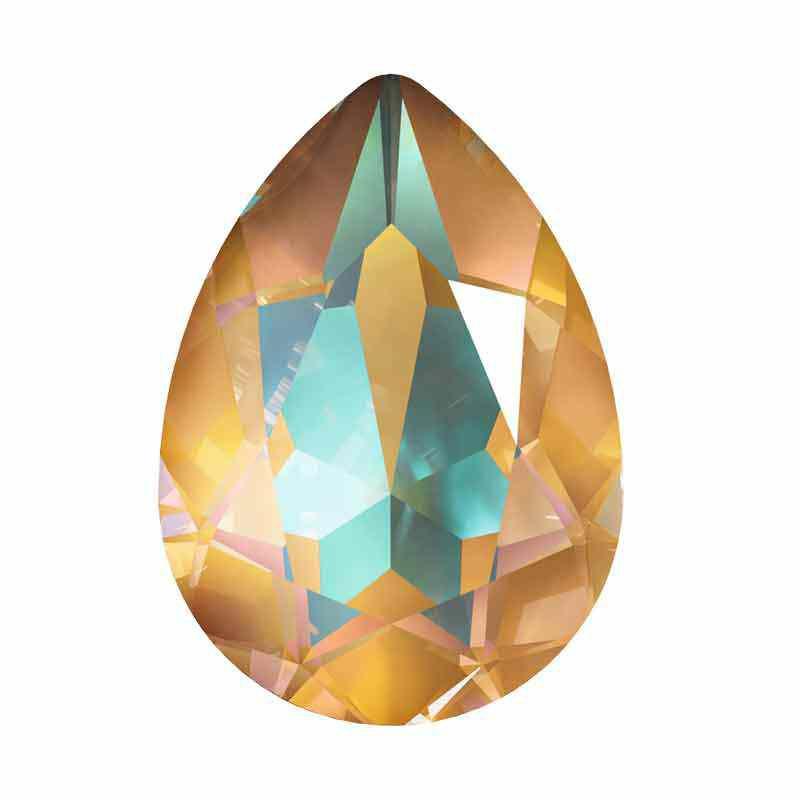 14x10mm Crystal Ochre DeLite Грушевидный Кристалл для украшений 4320 Swarovski