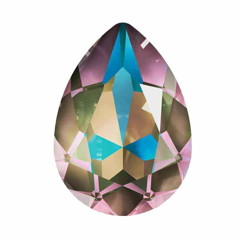 18x13mm Crystal Army Green DeLite Pirnikujuline Ehete Kristall 4320 Swarovski