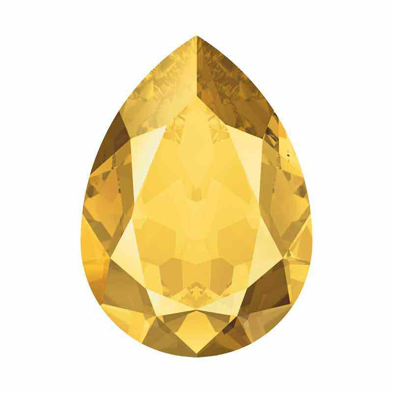 14x10mm Crystal Metallic Sunshine F Pirnikujuline Ehete Kristall 4320 Swarovski