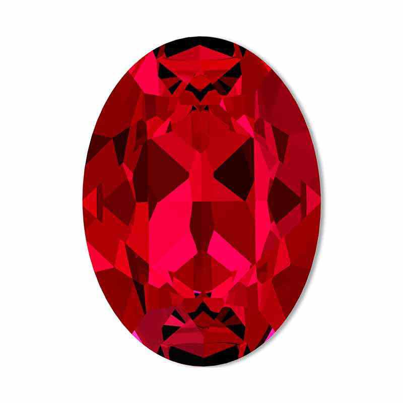 14x10mm Scarlet F Oval Fancy Stone 4120 Swarovski