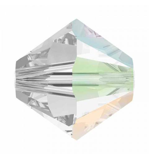 4MM Crystal AB SATIN (001 ABSAT) 5328 XILION Perles de bicone SWAROVSKI