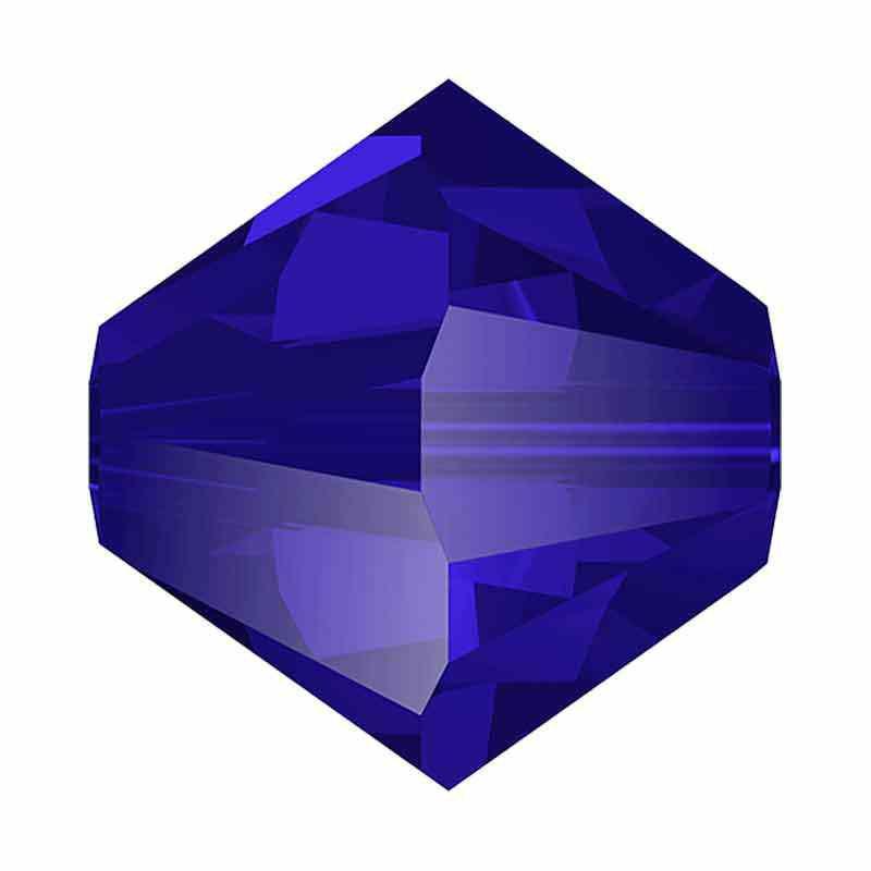 3MM Majestic Blue 5328 XILION Perles de bicone SWAROVSKI