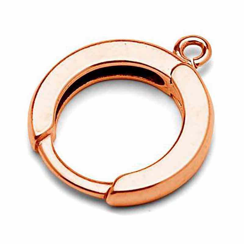 Серебрянная 925 розовый позолоченая основа для серёжки с кольцом 14x16.5MM