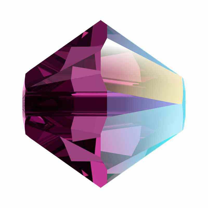 4MM Amethyst Shimmer 5328 XILION Bi-Cone Perles SWAROVSKI