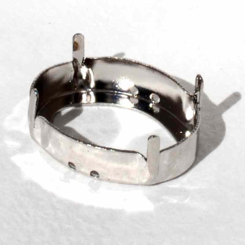 14x10mm 4120/S 3PH2OH Rhodium Tombac pin. Ovaal Ehete Kinnitus (4 AUKUDEGA/2MÕLEMADE POOLT - AVATUD)